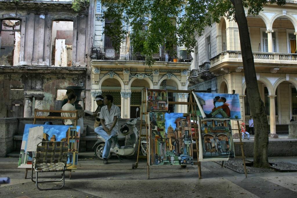 Kuba Urlaub Havanna Straßen Kunst Unterkunft